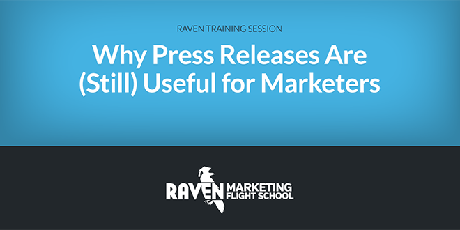 Press Releases Are (Still) Useful for Marketers