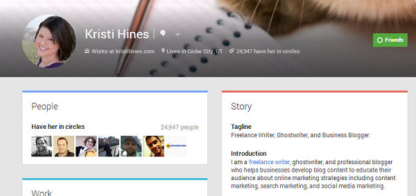 kristi hines profile page on google plus