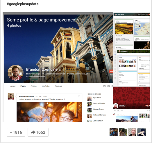 Google+ unveils a redesigned look