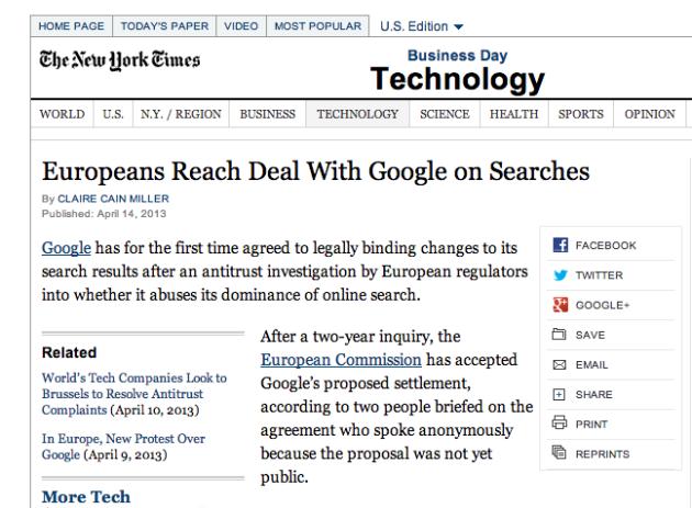 Google reaches antitrust deal