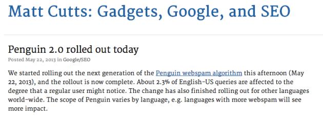 Penguin 2.0 rocks search marketers