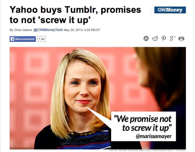 Yahoo acquires Tumblr