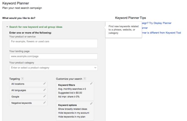 Google's Keyword Planner replaces Keyword Tool