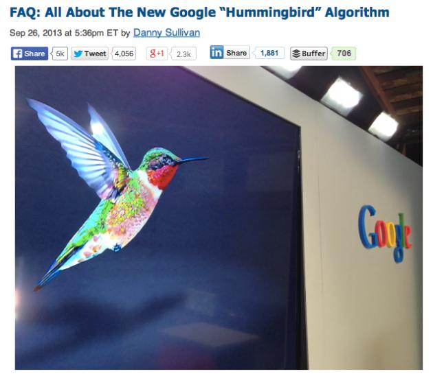 Google rolls out its Hummingbird update