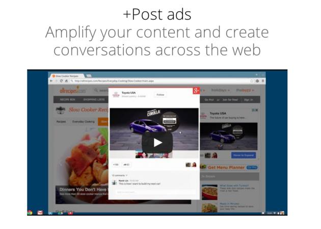 Google+ Post ads