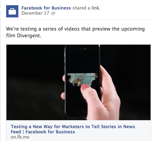 Facebook tests promoted video ads