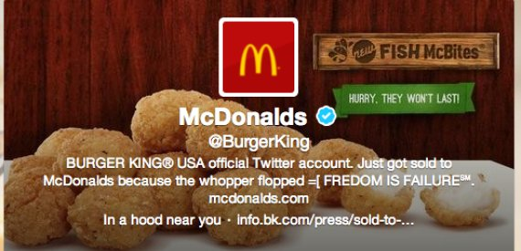 Burger King's Twitter account was hacked