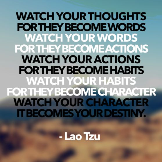 Lao Tzu on thoughts and words