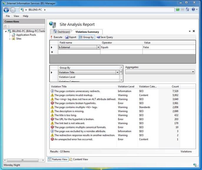 microsoft IIS toolkit