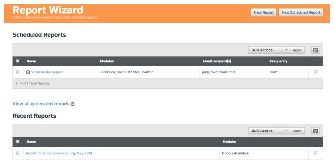 Google Analytics Reporting in Raven