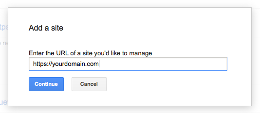 Add HTTPS to Google Webmaster Tools