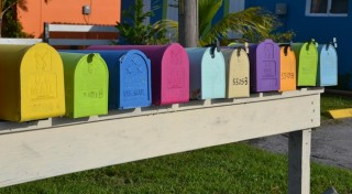 Colorful Postal Boxes
