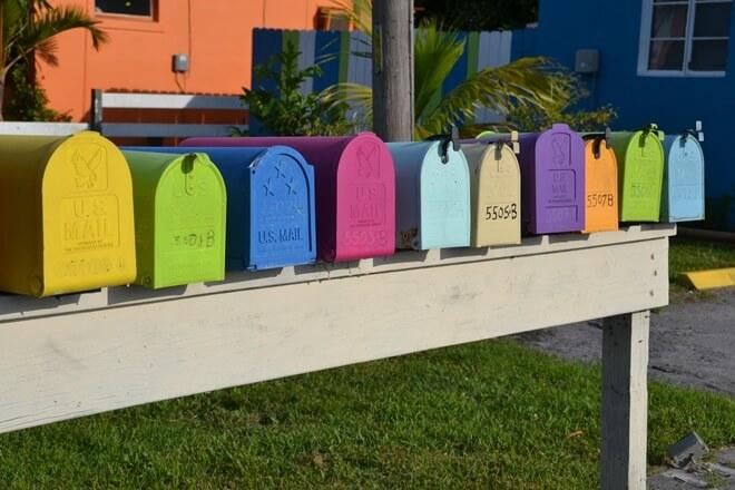 Colorful Postal Boxes