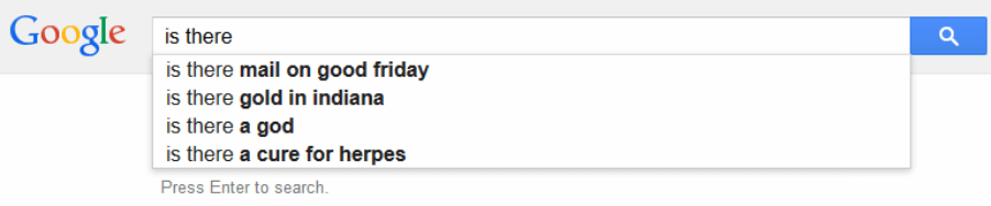 Google search suggest example