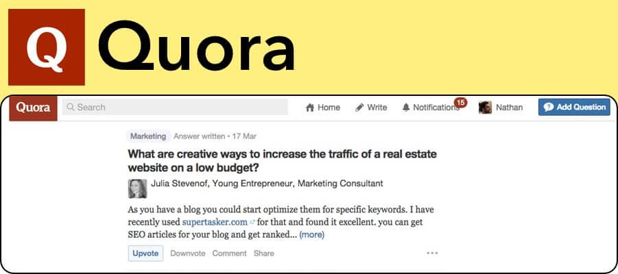 Quora marketing upvote website