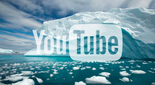 Iceberg with YouTube Logo