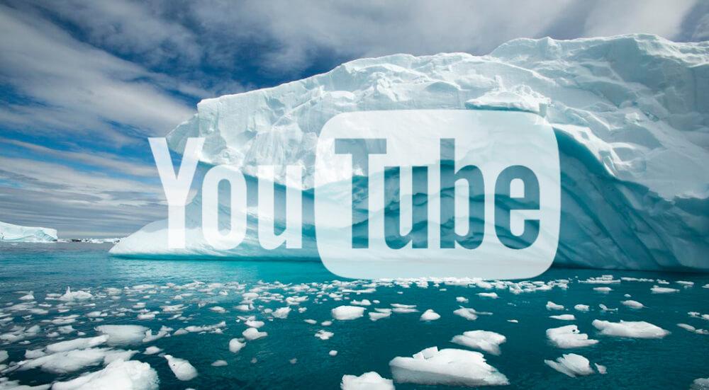 Iceberg with YouTube Logo