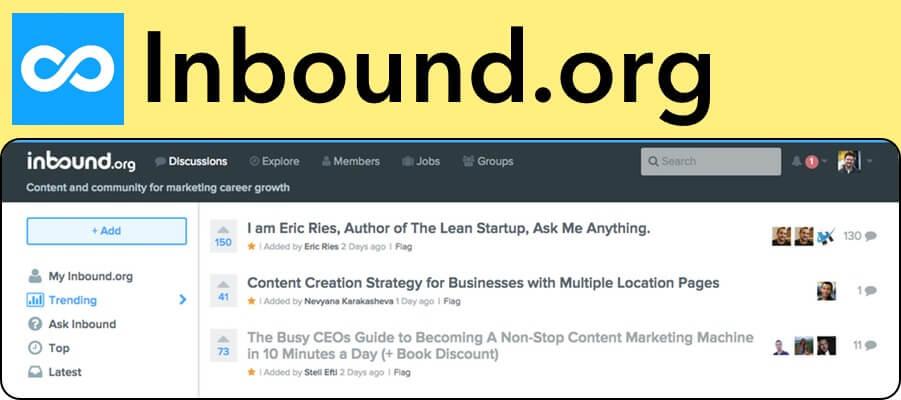 Inbound.org marketing upvote website