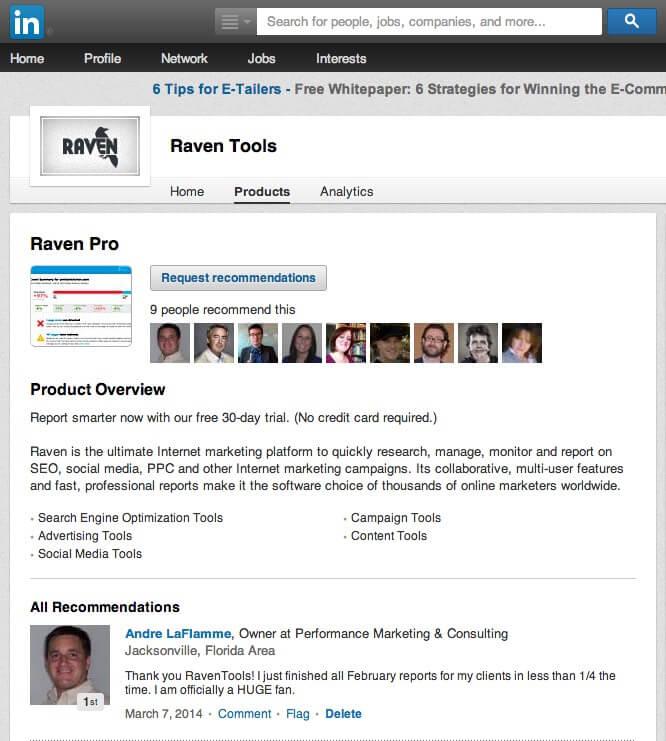 linkedin company page product reviews killed