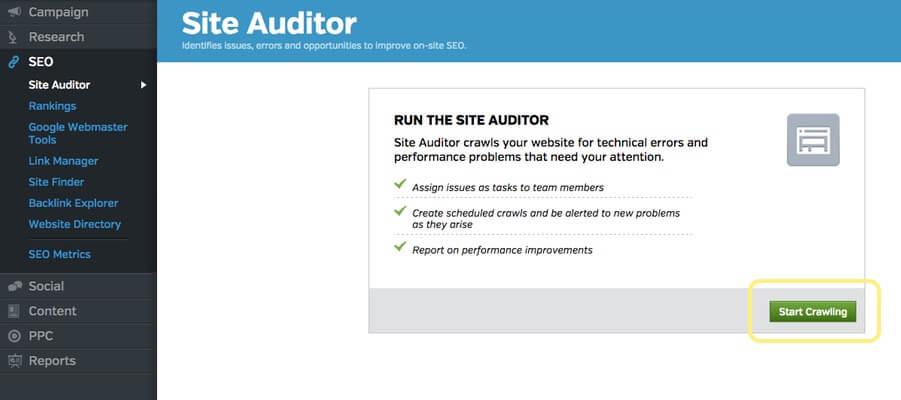 Run an SEO site audit