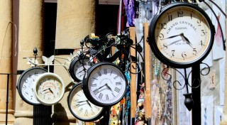 clocks representing time saving metaphor