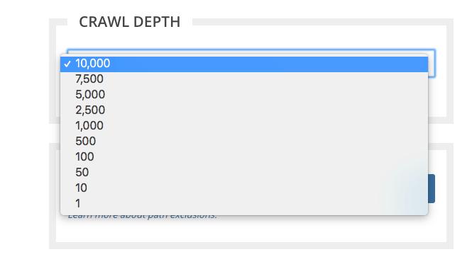 Crawl Limit Depth