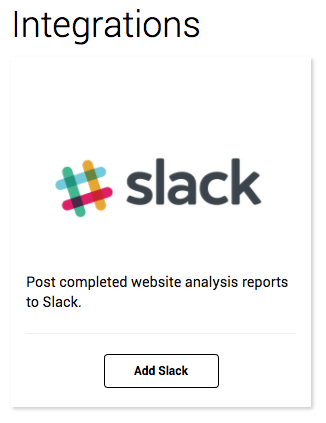 Add Slack to Raven Site Auditor