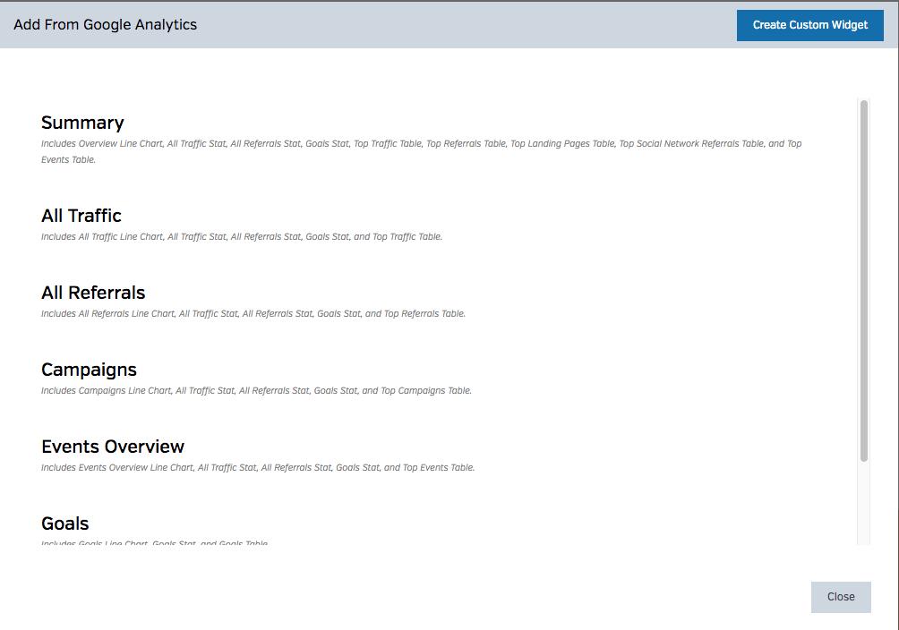 Custom Widgets In WYSIWYG Report