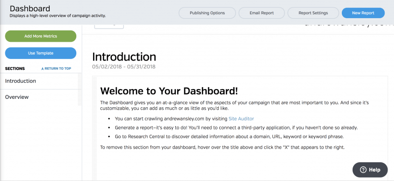 Welcome to your marketing Dashboard