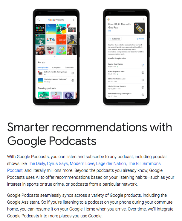 Podcasting with Google