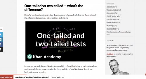 one-tail vs. two-tail hypothesis testing