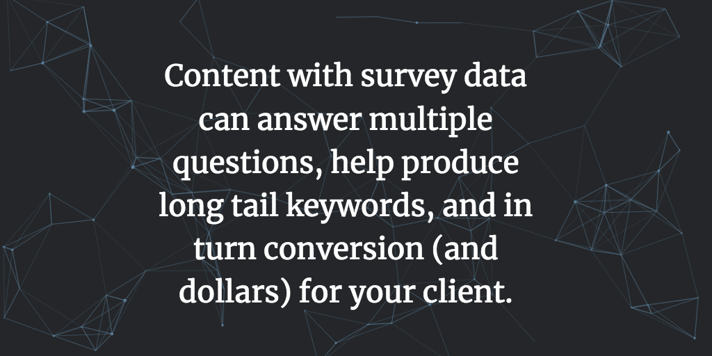 Create content with survey data