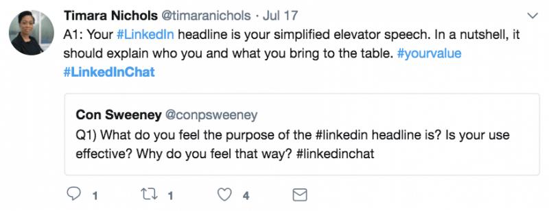 Timara Nichols - Linkedin Chat