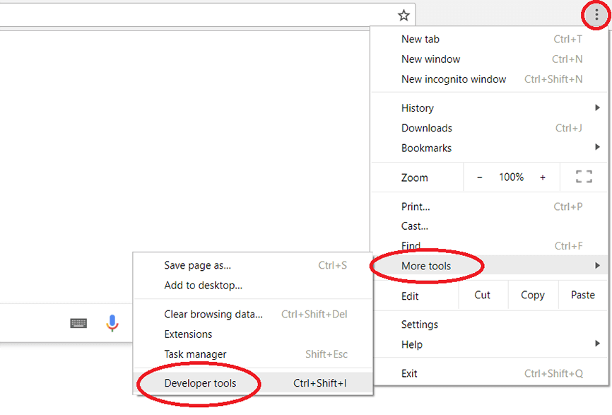 google chrome - more settings