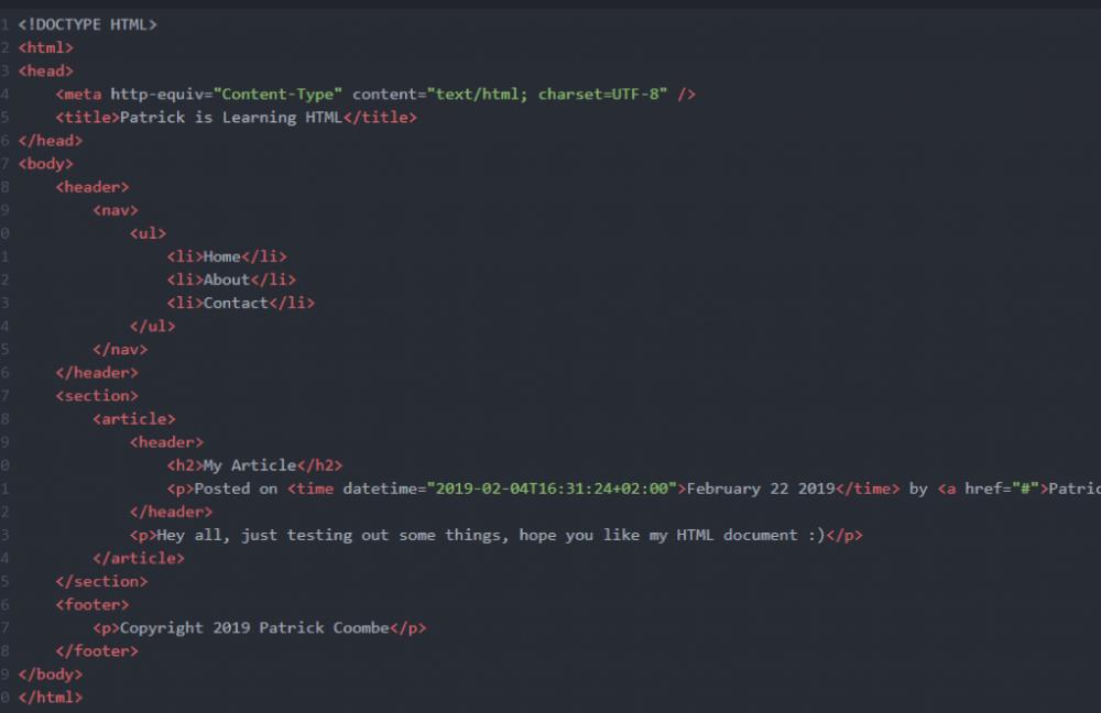 learn SEO html