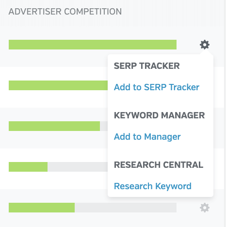 Add to Keyword Manager - Raven Tools