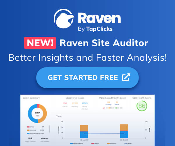 Uncover your top priority on-page  issues quickly with Raven Site Auditor's intuitive charts. Get Started Free.