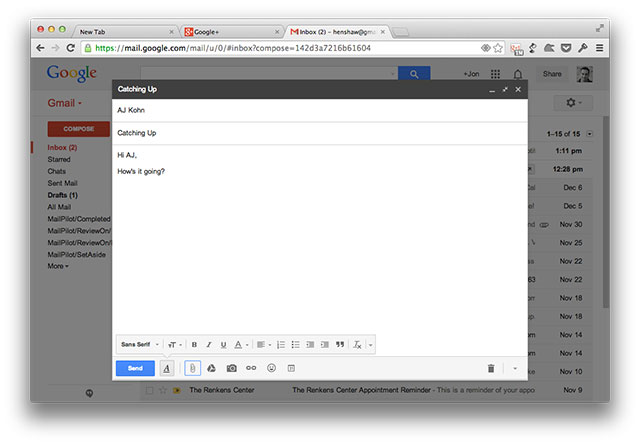 Gmail Compose Message