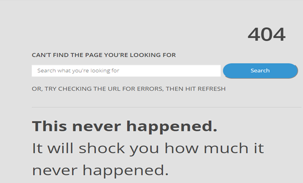 404 Pages Website