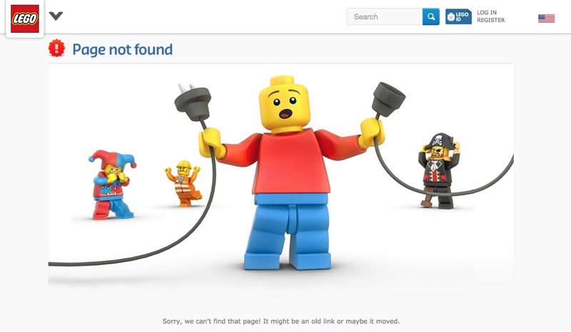Lego 404 not found page